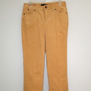 Talbots Heritage Mustard Yellow Corduroy Pants